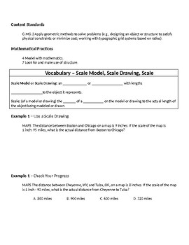 Geometry Guided Notes – 7.7 Scale Models and Drawings