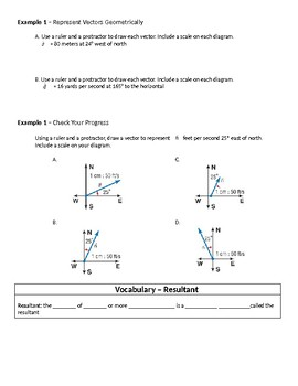 Geometry Guided Notes – 8.7 Vectors