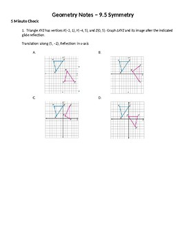 Geometry Guided Notes – 9.5 Symmetry