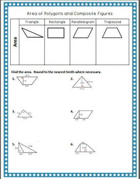 Geometry Guided Notes:  Area of Polygons and Composite Figures