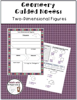 Geometry Guided Notes BUNDLE: Distance and Midpoint, Polygons, Polyhedron