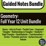 Geometry Guided Notes Bundle - Lessons with Homework