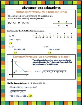 Geometry Guided Notes:  Distance and Midpoint Formulas