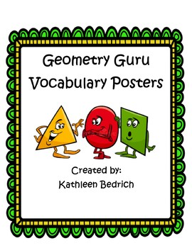 Geometry Guru Vocabulary Posters