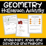 Geometry Halloween Activity - Pumpkin Patch Performance Assessment