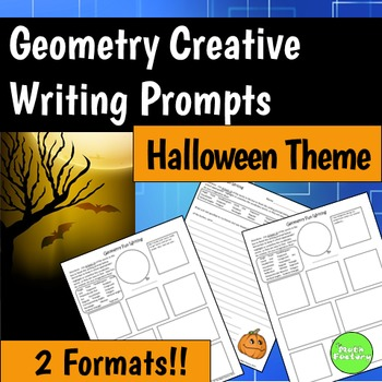 Geometry Halloween Writing Prompts