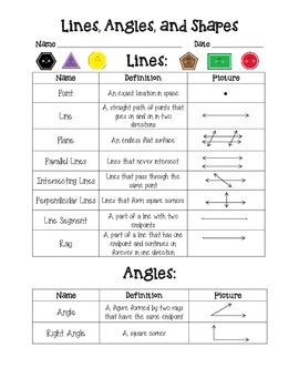 Geometry Handout