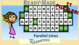 Geometry Hangman Parallel Lines Postulates and Theorems Powerpoint Game