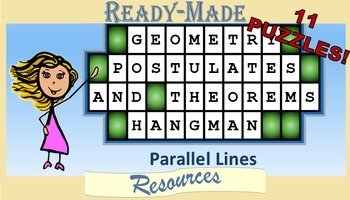 Geometry Hangman Parallel Lines Postulates and Theorems Po