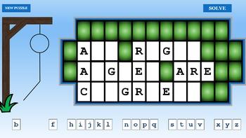 Geometry Hangman Powerpoint Game Freebie