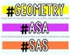 Geometry Hashtag Poster