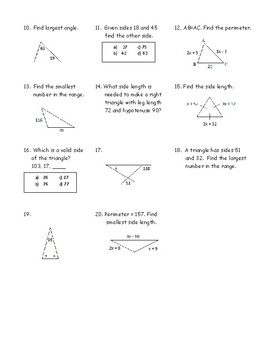 Geometry Hidden Message Puzzle - Triangles