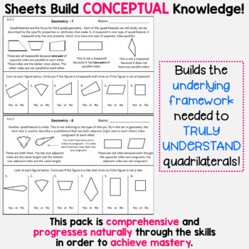 Geometry Homework or Geometry Math Centers for 3rd Grade - 3.G.1
