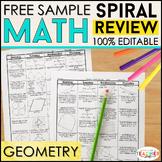 Geometry Homework Geometry Warm Ups Geometry Review | Spir