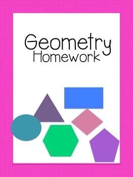 Geometry Homework Worksheets. Common Core Aligned
