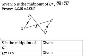 Geometry Honors Proof Activity (SSS,SAS,ASA,AAS)
