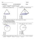 2017 Honors Geometry Final exam pdf