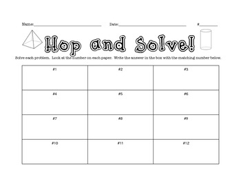Geometry: Hop and Solve (3D Shapes)