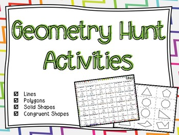 Geometry Hunt Activities