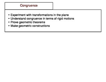 """High School Geometry Concept Standards """"I Can"""" Statement Strips"""