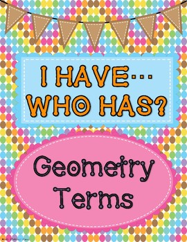 Geometry I Have, Who Has Game