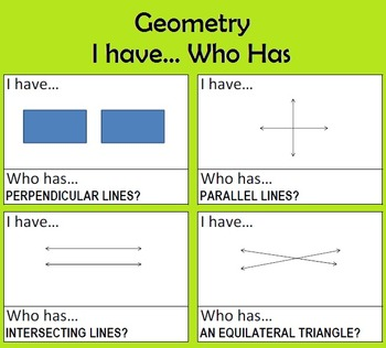 Geometry - I Have... Who Has