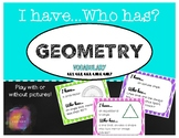 Geometry I Have Who Has Game - 4.G.1, 4.G.2, 4.G.3, 4.MD.6