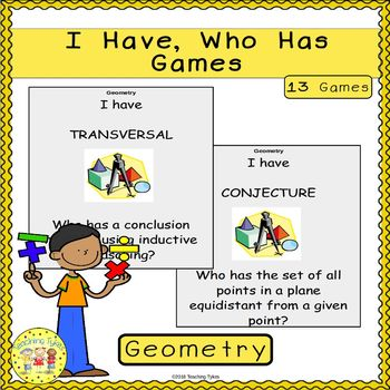 Geometry I Have, Who Has Games