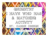 Geometry I Have Who Has & Matching Activity