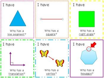Geometry- I have, Who Has? Circle Game