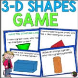 I have, Who has? 3D Shapes Game