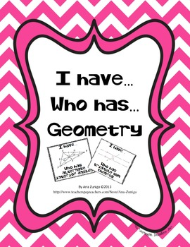 Geometry I have Who has Part 1