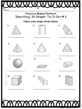Geometry - Identify 2D and 3D shapes Task Cards