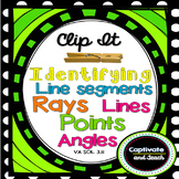 Geometry Identifying Lines Segments Rays Angles Clip It