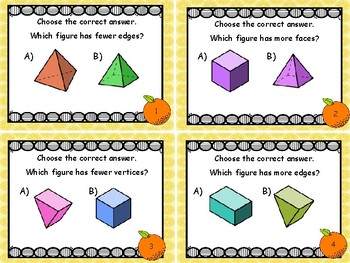 Geometry - Identifying Vertices, Faces, and Edges of 3 Dimensional Shapes