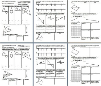 Geometry Individual Test Proofs and Concurrency Fall 2013