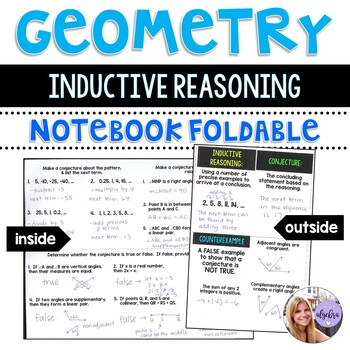Geometry - Inductive Reasoning and Conjectures Foldable for Interactive Notebook
