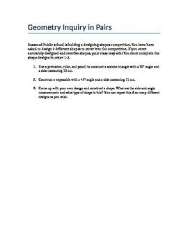 Geometry Inquiry Grade