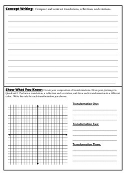 Geometry Interactive Math Notebook {Reflection} {14}: Coordinate Geometry