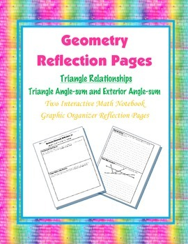 Geometry Interactive Math Notebook {Reflection} {5}: Trian