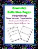 Geometry Interactive Math Notebook {Reflection} {7}: Triangle Relationships