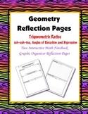 Geometry Interactive Math Notebook {Reflection} {9}: Trigonometric Ratios