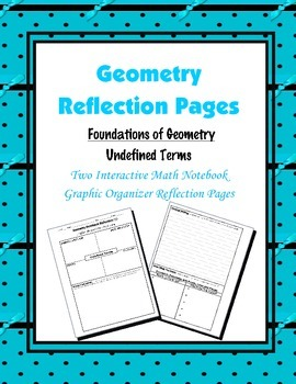 Geometry Interactive Math Notebook {Reflection} {1}: Foundations of Geometry