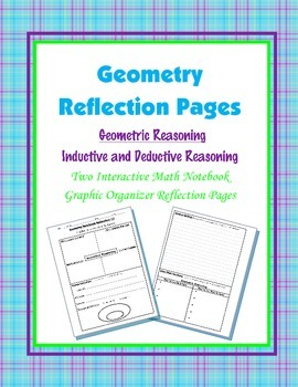 Geometry Interactive Math Notebook {Reflection} {2}: Geome