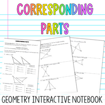 Geometry Interactive Notebook:  Corresponding Parts