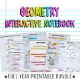 Geometry Interactive Notebook Full Year Bundle Print Only
