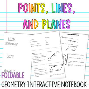 geometry interactive notebook points lines and planes. Black Bedroom Furniture Sets. Home Design Ideas