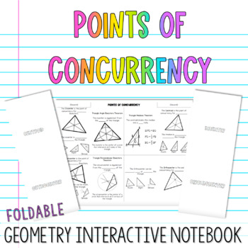 Geometry Interactive Notebook:  Points of Concurrency