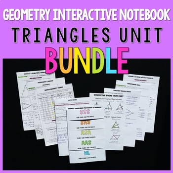 Geometry Interactive Notebook:  Triangles Unit Bundle