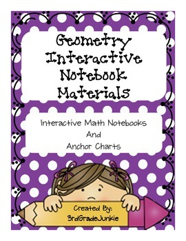Geometry Interactive Notebook - Vocabulary - 3rd Grade